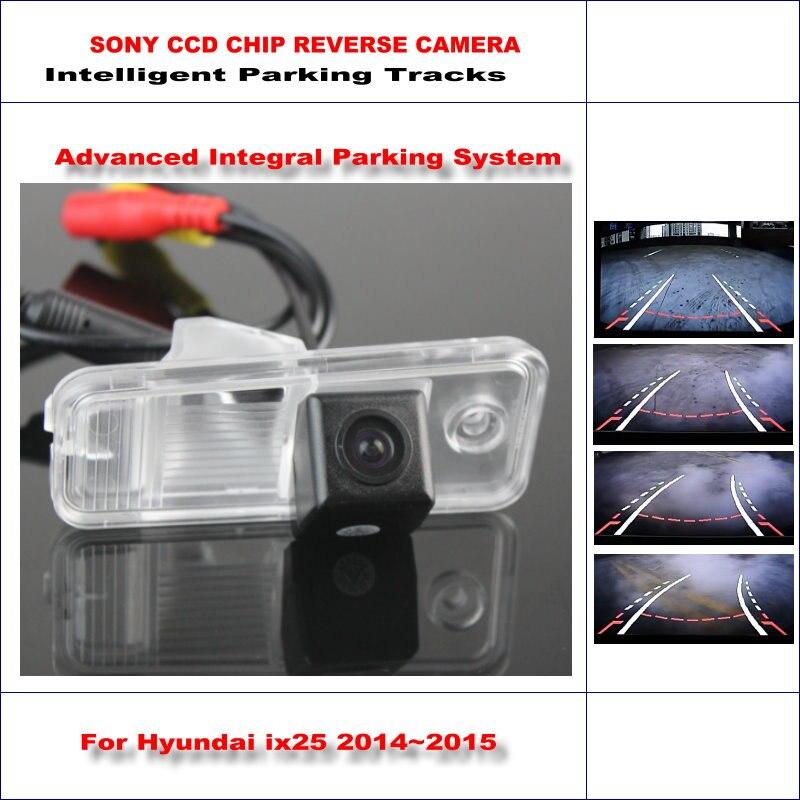 Cámara de inversión inteligente para Hyundai ix25/Hyundai Creta vista trasera back up/580 líneas de TV Dynamic guidance tracks