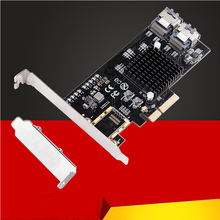 BTBcoin Add On Cards PCI-E/PCIE SATA Card PCI Express SATA Controller PCIE to SATA 3.0 Card 8Port SATA3 Expansion Adapter +Cable