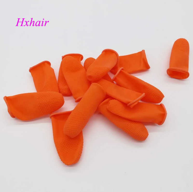 50 piezas de calor dedo protector cunas/escudos antideslizante antiestático el dedo para pelo de la queratina
