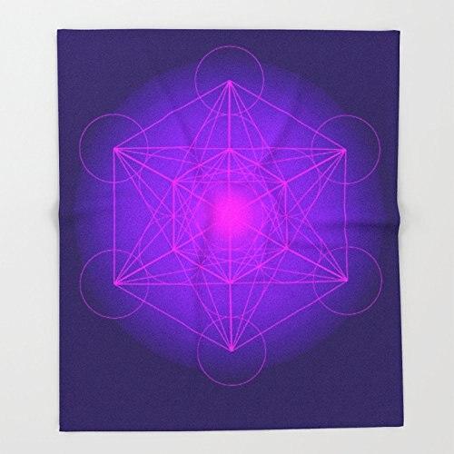 Cube  Secret Geometry  Platonic  Matrix  Protects children Throw Blankets Throw on Sofa Bed Plane Plaids Bedspreads
