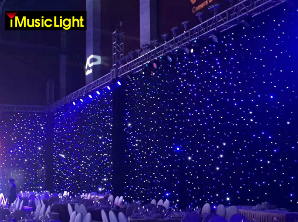 4mtrx5mtr Blue White Led Stage Star Cloth Matrix Backdrop