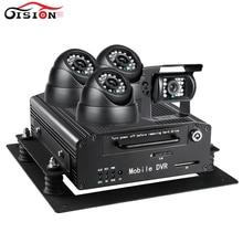 Security Surveillance Realtime HDD Auto Car Bus 3G GPS Mobile DVR 4CH Audio Video Input Car
