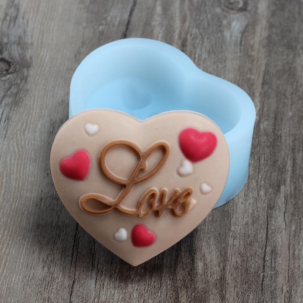 ᐅNicole r0277 amor corazón formas silicona Jabones molde DIY hecho ...