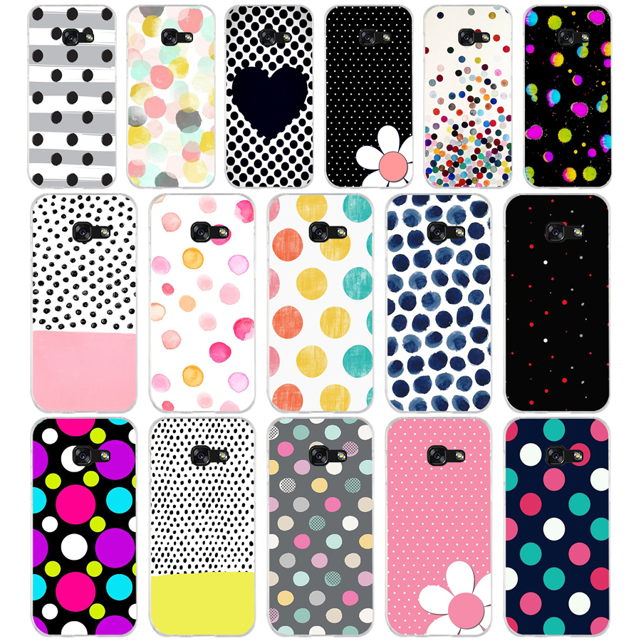 290WE watercolor polka dots Soft Silicone Tpu Cover <font><b>phone</b></font> <font><b>Case</b></font> for <font><b>Samsung</b></font> A3 <font><b>A5</b></font> <font><b>2016</b></font> A3 <font><b>A5</b></font> 2017 A7 A8 2018 A50 image