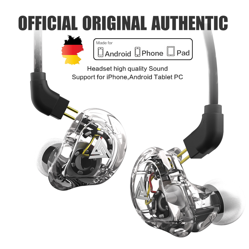 Oeiginal QKZ VK1 4 Dynamic Hybrid In Ear Earphone With Mic Earphones HIFI DJ Monito Running Sport Earphones 4 Drive Unit Headset earphone qkz dm4 in ear earphones dynamic with mic microphone hybrid unit hifi earphone earbud headset fone de ouvido dj mp3