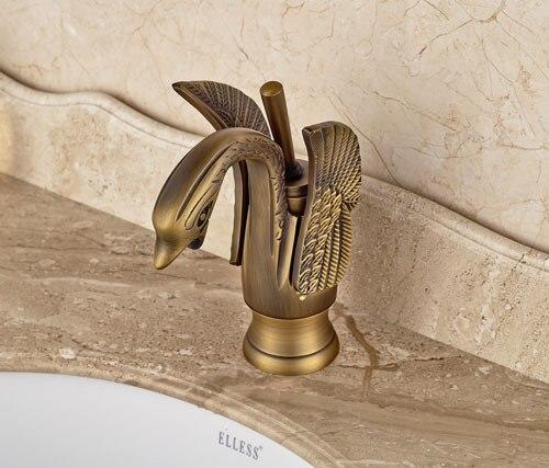 classic swan shape solid brass bathroom