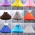 2016 Colored Mini Petticoat Short Puffy Tulle Skirt Women Girls Underskirt Rockabilly Tutu Dress for Short Prom Dress Petticoat