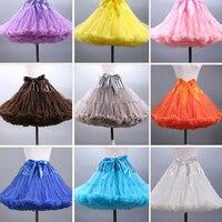 2016 Colored Mini Petticoat Short Puffy Tulle Skirt Women Girls Underskirt Rockabilly Tutu Dress For Short