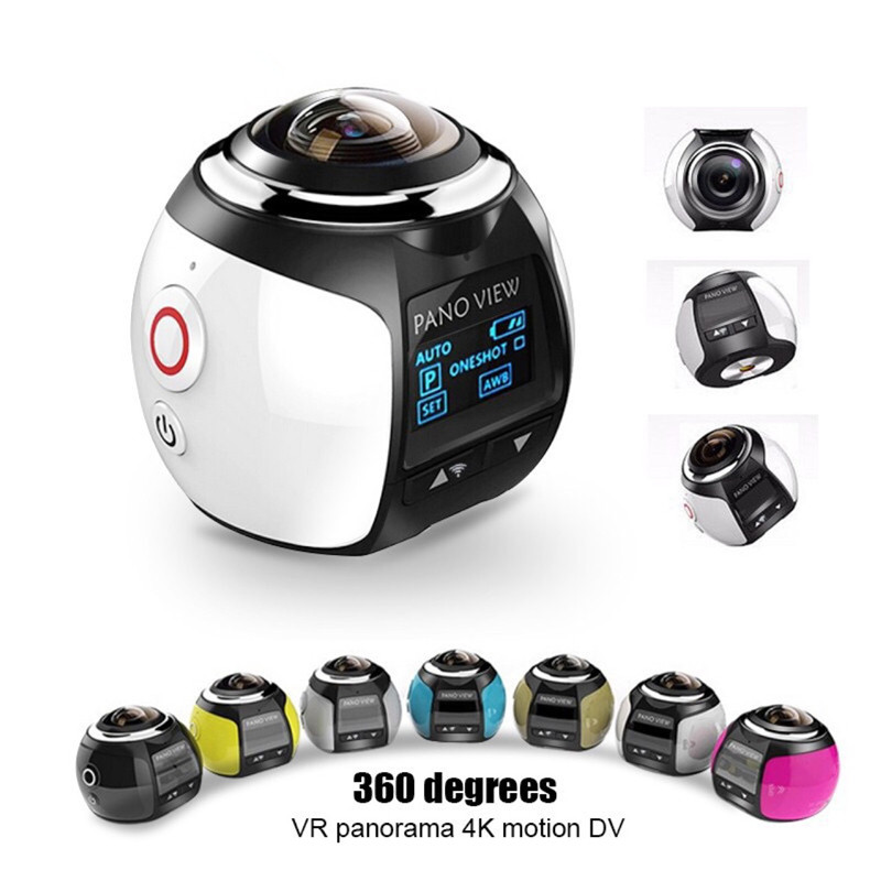 360 Degree 4K Mini Video Camera Panorama 3D VR Ultra HD 360 *220 Camera 30 Meters Diving Actoin Waterproof Sports Camera