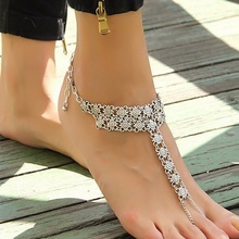 Newest Creative Hot Sale Style Retro Anklets Flower Mittens String Anklets For Women Accessories Ank