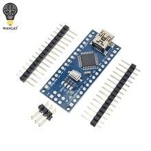 10個プロモーションfunduinoナノ3.0 Atmega328コントローラ互換ボードなしwavgatモジュールpcb開発ボードusb