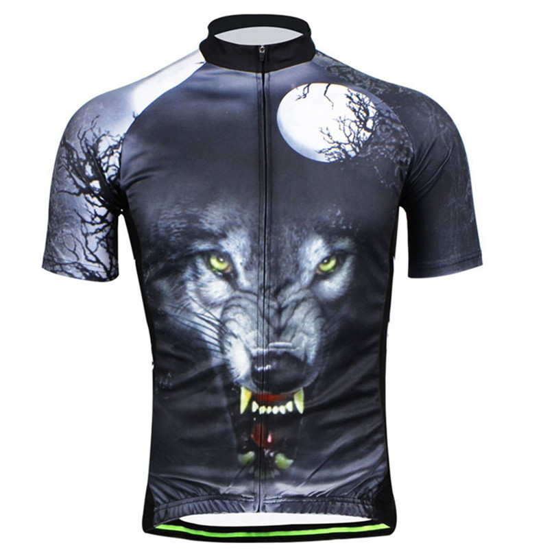 2017 New Quick-Dry Cycling Clothing Wolf Bike Wear Cycling Jerseys Ropa  Ciclismo Bicycle Clothes 54862cc11