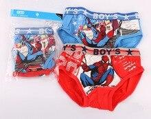 free shipping, Children's underwear Baby boys Briefs Kids Cute spider man Children Soft Cotton Panties size:2-12year 95% cotton