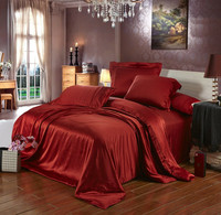 Heavy Silver Grey Champagne Color 100 Mulberry Silk Bedding Set 19 Mm Seamless Non Pathwork Super