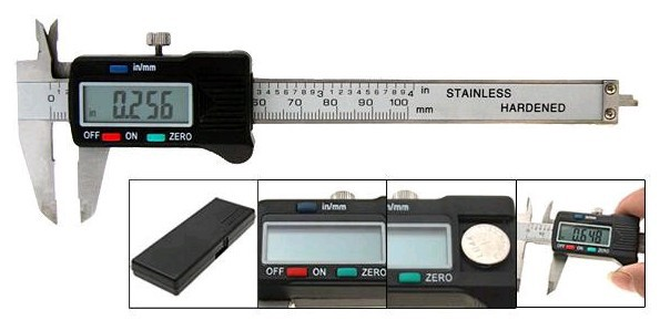 Free Shipping 6 Digital Electronic Caliper LCD Display Battery New Precision Measuring Case