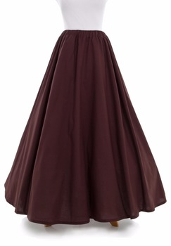Victorian Cotton Skirt Victorian French Pleated Gathered Bustle Skirts