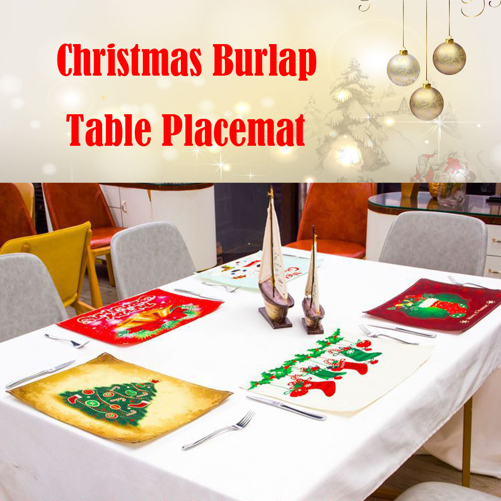 Bowl Fork Placemat Mat Heat Insulation Pad Home Party Christmas Dining Table