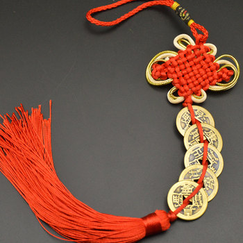Chinese manual Knot Fengshui Lucky Charms Ancient I CHING Copper Coins Mascot Prosperity Protection Good Fortune Home Car Decor 20
