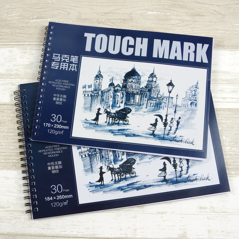 Touchmark Markers Drawing Book 30 Sheets B5 16K Notebook Paper Marker Pad Sketch Book School Art Supplies a3 a4 marker pen notebook marker sketchbook 32 sheets thick paper 160g color pencils notebooks