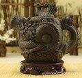 Authentic yixing teapot dragon and phoenix tea pot 500ml big capacity purple clay tea set kettle kung fu teapot