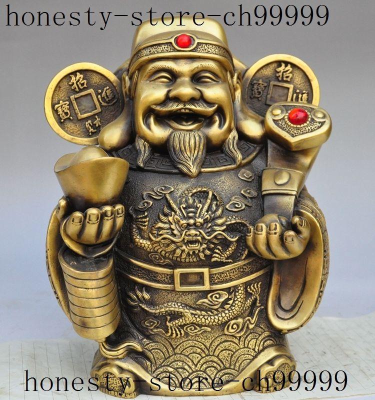 christmas chinese folk brass wealth ruyi money coin ingot Fortuna Mammon lucky statue halloweenchristmas chinese folk brass wealth ruyi money coin ingot Fortuna Mammon lucky statue halloween
