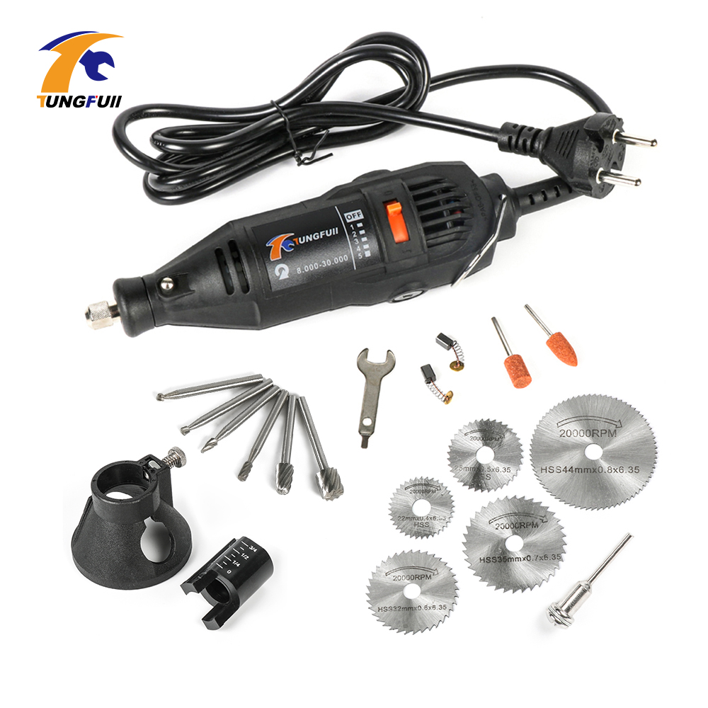 Tungfull Mini Drill Dremel Power Tools 220V Electric Tools Hand drill Engraver For Dremel Rotary Tool