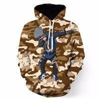 Newest Style Khaki Camo Anime Hoodie Sweatshirt Classic Naruto Kakashi 3D Hoodies Pullovers Men Women Pocket