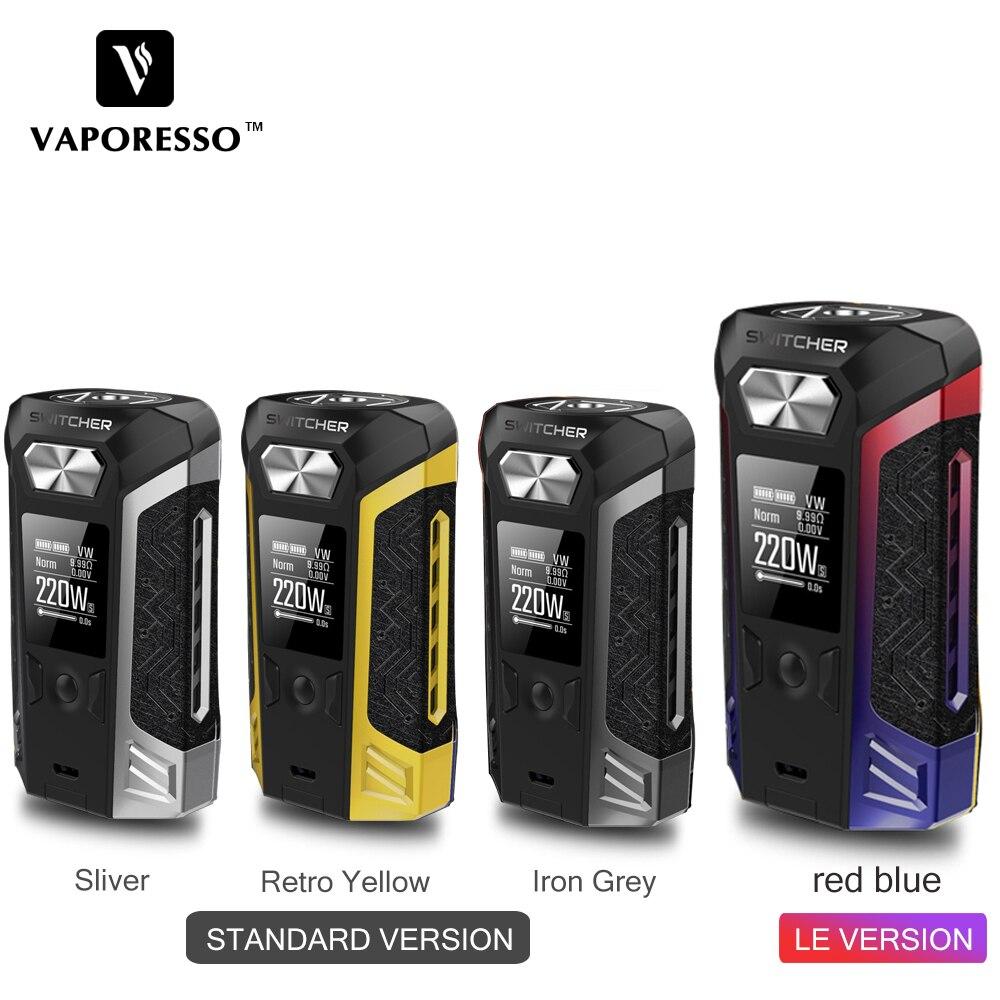 Original Vaporesso Switcher 220W TC Vape Box MOD W 0 96 inch Color Screen for NRG