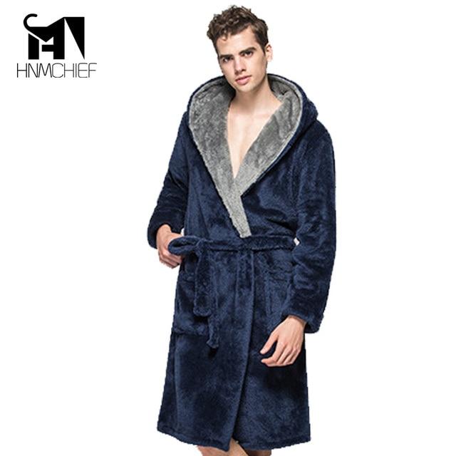 Bath Robe New Arrival Lovers Luxury Winter thick flannel Long Bathrobe men s  women s homewear male sleepwear lounges pajamas 118427ca2