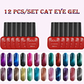 12 PCS Sioux 6ml 48 Colors Magnetic Cat Eye Gel Nail Gel Polish Long-lasting UV Makeup Gel Soak-off LED UV Color Gel Varnish