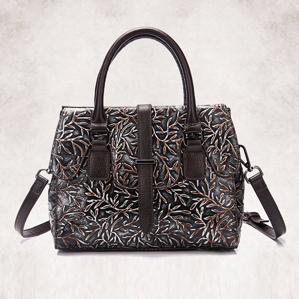 Fashion Women Embossed Genuine Leather Handbag Famous Brand Cowhide Single Shoulder Bags Ladies Vintage Tote Bag Top Quality New free shipping new fashion brand women s single shoulder bag ladies handbag top pu leather wholesale price 100