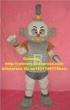 사랑스러운 회색 로봇 마스코트 의상 마스코트 Automaton 지능형 기계 성인 큰 회색 스위치 빨간 코 No.2024 무료 배송