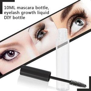 Image 2 - 10Pcs Empty Mascara Tube With Eyelash Bottles Cosmetic Container 10ml Plastic Bottle Mascara Eyelash Refillable Makeup Container