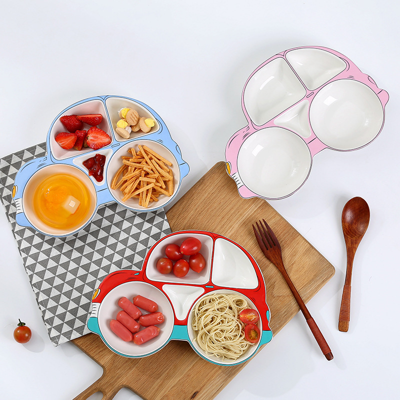 Keramické modelování automobilů krmení kojeneckého jídelního kuchařku Set kuchyňské keramické nádobí pro děti