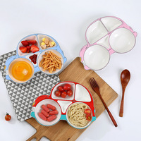 Ceramic Car Modeling Baby Plate Food Feeding Dinnerware Feeding Set Ceramic Cartoon Children Tableware