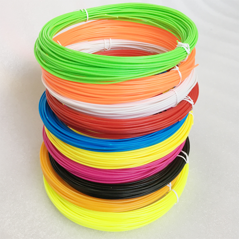 10 colors 10m/pack or 20m/pack 100m/set 200m/set 3D Pen Filament ABS 1.75mm Plastic Rubber Printing Material For 3D Printer Pen 300g pack lldpe plastic particles linear low density polyethylene raw material