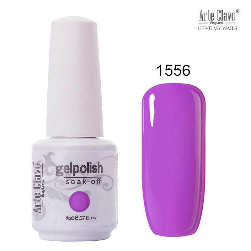 Arte Clavo 85 renkler jel oje LED UV jel tırnak emmek tırnak jel lak Glitter 8ML çıplak kırmızı hibrid oje