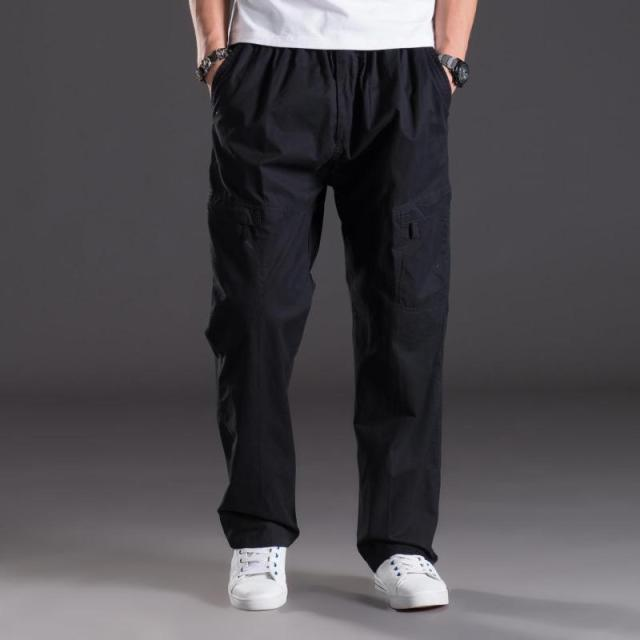 64227f859 xl 4xl 5xl 6xl Plus size big Men s Cargo Pant Casual Men Elastic waist  Multi-