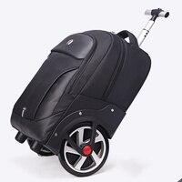 Высокая емкость сумки Для мужчин Бизнес Rolling Чемодан 20 дюймов плеча чемодан колеса 18 дюймов Cabin Trolley сумка для ноутбука