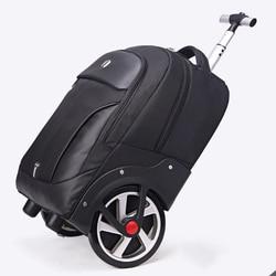 LeTrend Hoge capaciteit Reistassen Mannen Business Rolling Bagage 20 inch Schouder Koffer Wielen 18 inch Cabine Trolley laptop tas