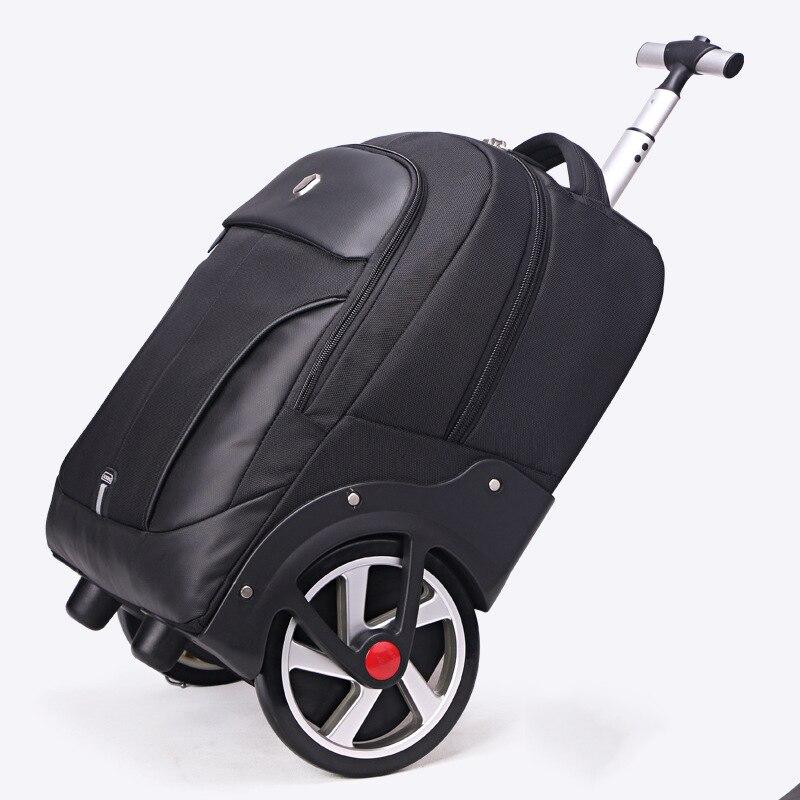 Bagaj ve Çantalar'ten Seyahat Çantaları'de LeTrend Yüksek kapasiteli Seyahat Çantaları Erkekler Iş Haddeleme Bagaj 20 inç Omuz Bavul Tekerlekleri 18 inç Kabin Arabası laptop çantası'da  Grup 1