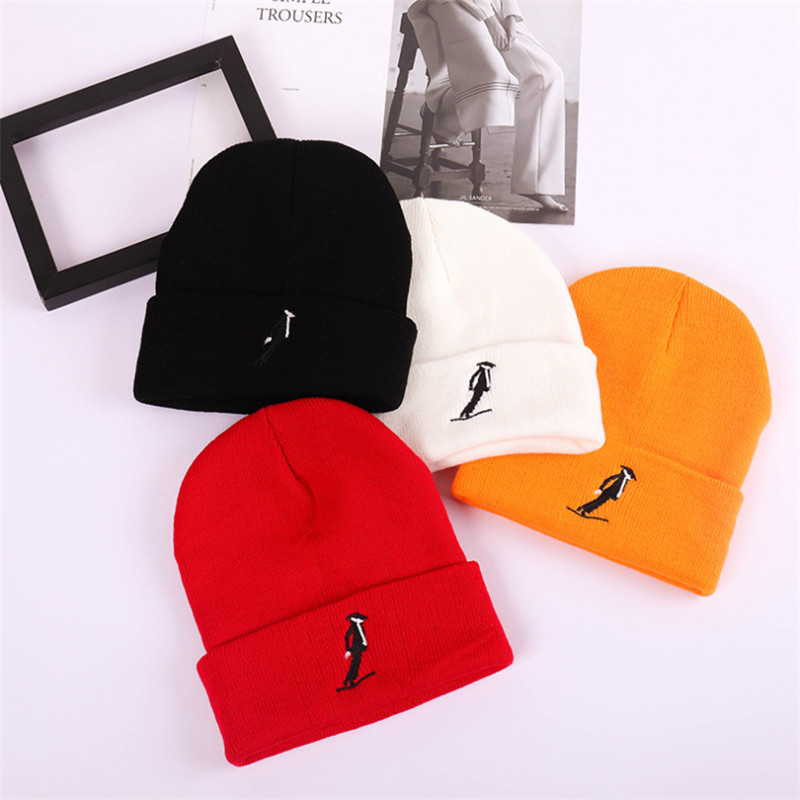 knitted hat Embroidery skiing Autumn Winter Cap Men Women Casual Hip Hop   Skullies     Beanies   Hat Warm Winter Hat For Women   Beanie