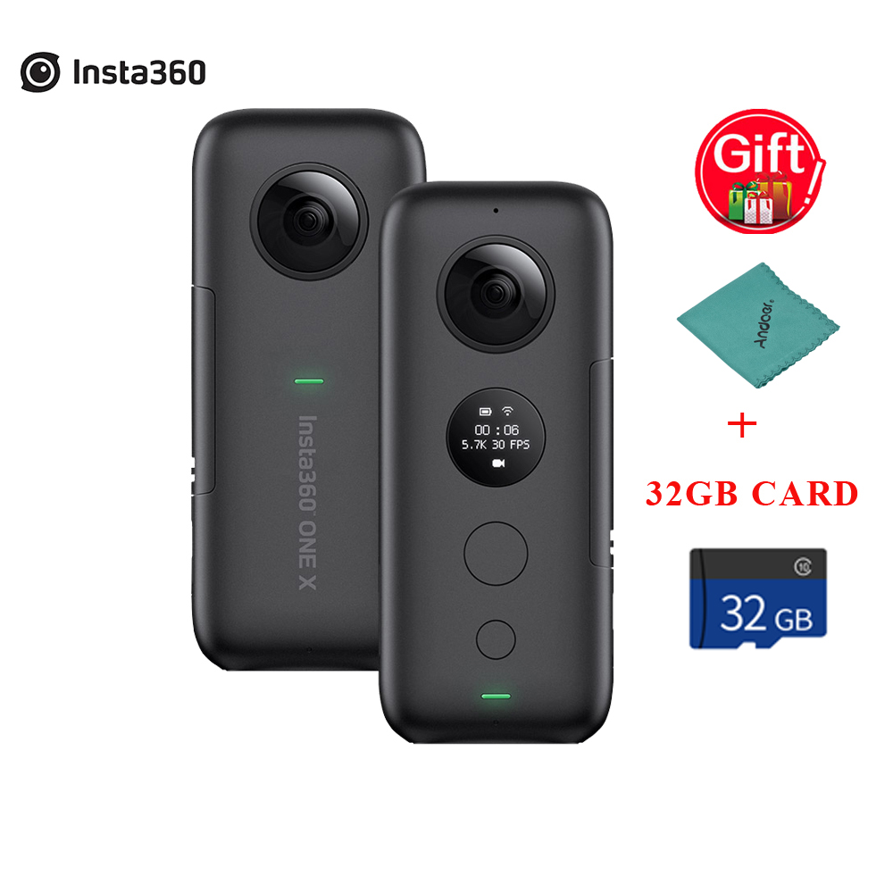 Insta360 ONE X FlowState 18MP 6 Axis Gyroscope Stabilization Panoramic Action Camera for iPhone X XS