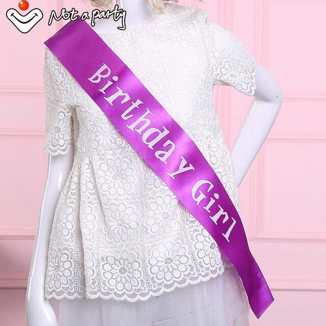 Regalo de cumpleaños púrpura chica faja ceremonia de diversión para ...