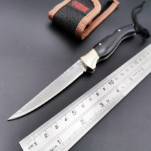 Handmade Folding Knife VG10 Damascus Blade Ebony Brass Handle Pocket Knife Camping Survival Utility Knives Hunting EDC Tool