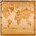 Новый Высокое Качество Женщин Шарф 90 см * 90 см Карта Мира Pattern Платок Марка Шелковый Шарф Сумка Одежда Аксессуары SH15102813