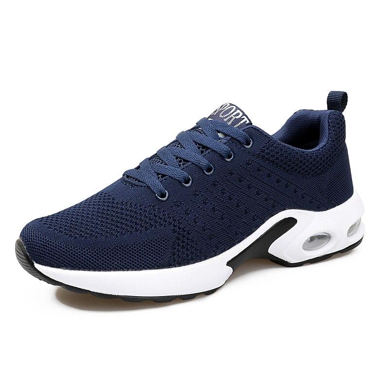 Plat Dentelle Mode De Up Qualité Noir Casual Printemps bleu Maille Homme Confortable Automne Chaussures Lumière Hommes Respirant Espadrilles gris Sauvage BrqvB8wx4