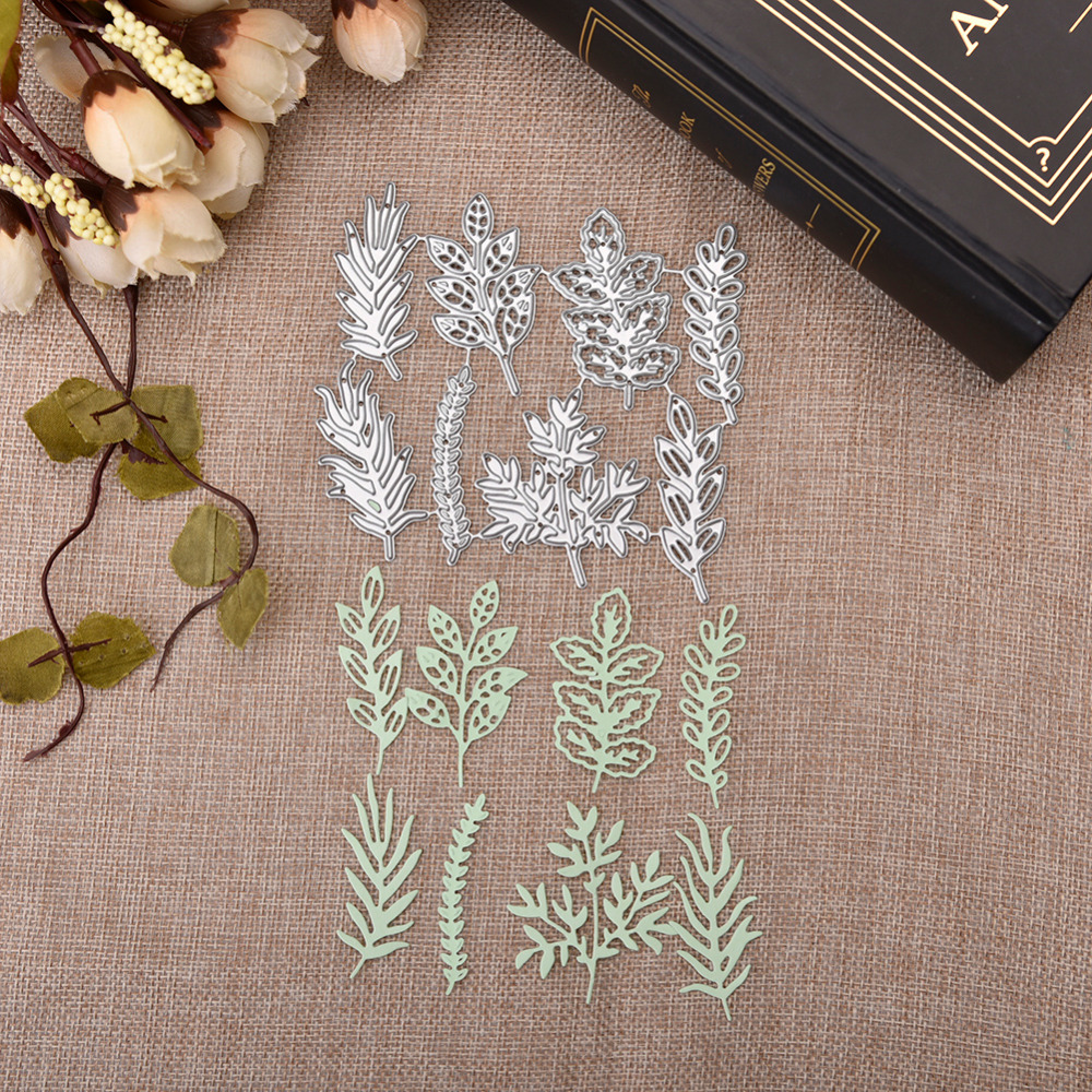Hemere Pine Leaves Collect Metal Cutting Dies Stencils for DIY Scrapbooking Photo Album Embossing Paper Cards Decorative Crafts ...