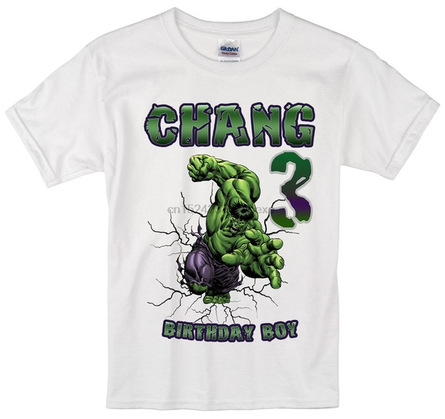 Incredible Hulk Birthday Shirt Personalized Custom Name Age Kids T