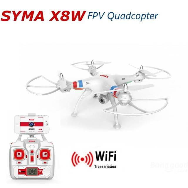 Profissional X8W 2.4G 4ch 6 Eixo RC Quadcopter drone Syma com ampla Ângulo da câmera de 2MP WIFI FPV RTF RC helicóptero